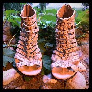 JBU by Jambu Nectar Polka Dot cage shoes booties.